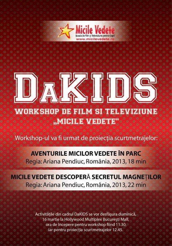 Workshop De Film Pentru Copii Micile Vedete În Cadrul Festivalului Internațional De Film DaKINO 23, Secțiunea DaKIDS!