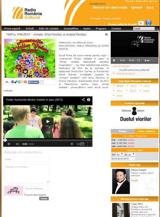 Articol Radio Romania Cultural