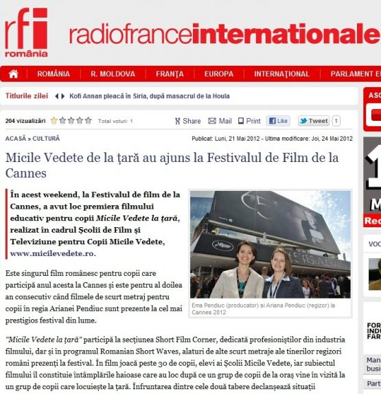 Articol RFI