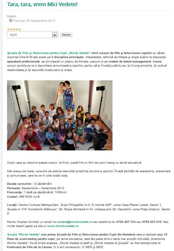 Articol Mobikid.ro