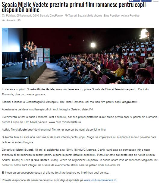 Articol Cinefan