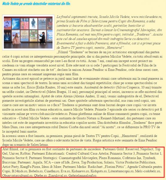 Articol www.literaturacopii.ro