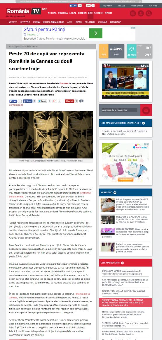 Articol Romania TV