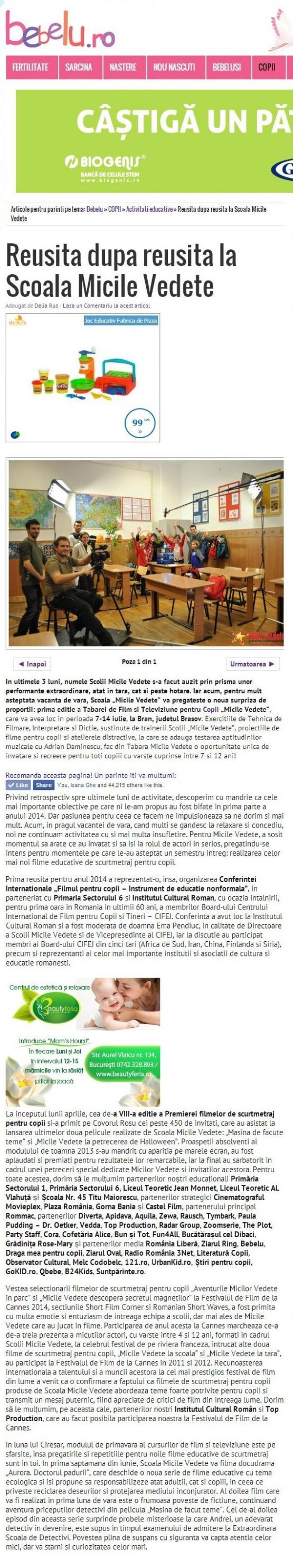 Articol Bebelu.ro