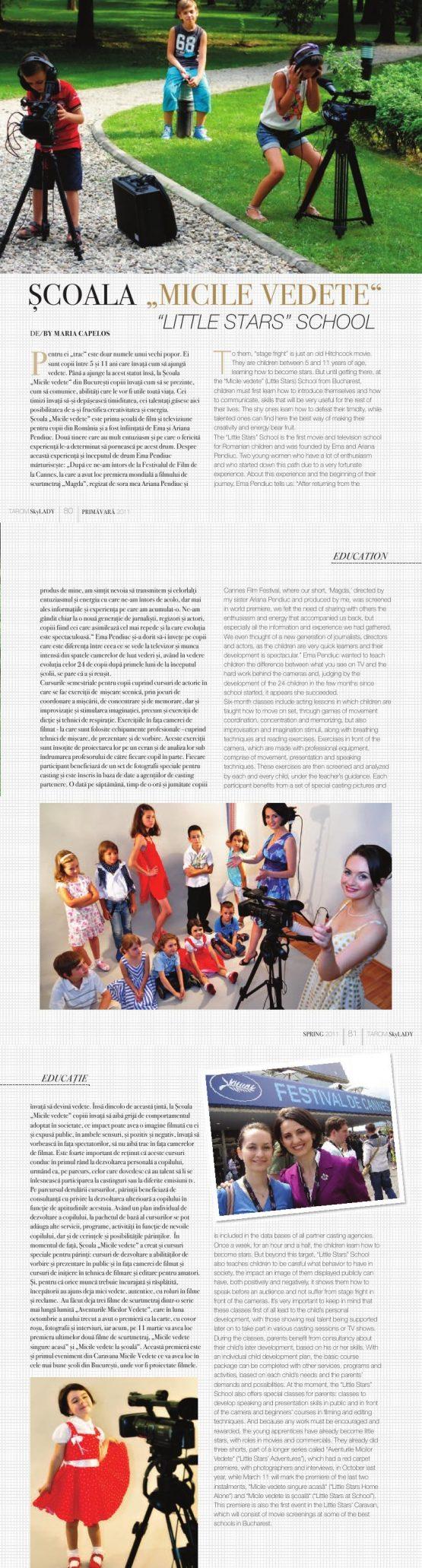 Articol Sky Lady by Tarom