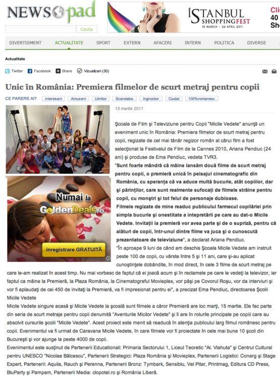 Articol NewsPad