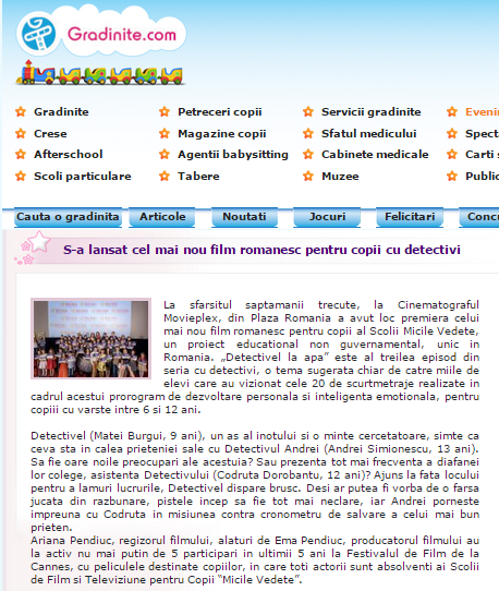 Gradinite.com