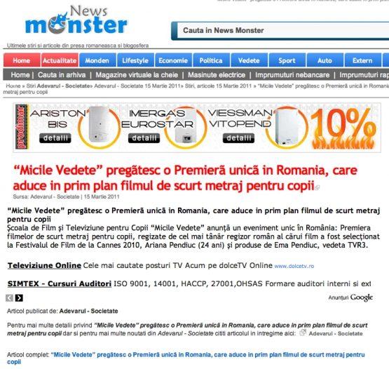 Articol Newsmonster.ro