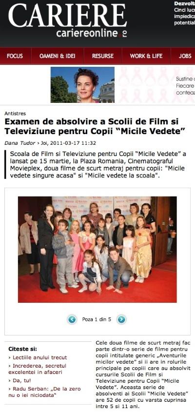 Articol Cariereonline.ro