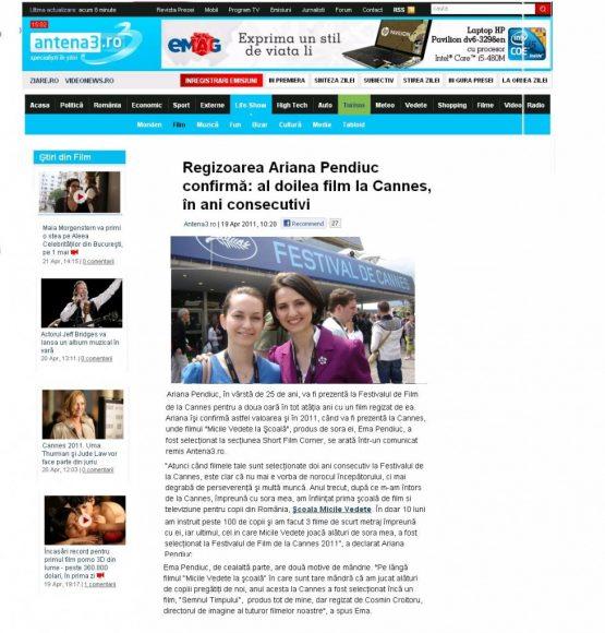 Articol Antena3.ro