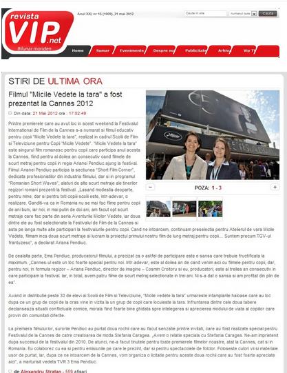 Articol Revista VIP