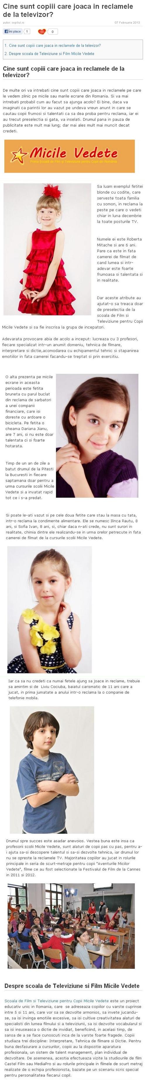 Articol Copilul.ro
