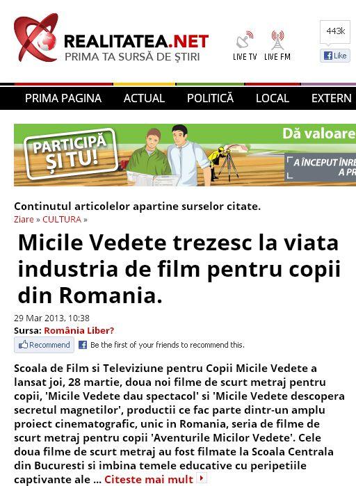 Articol Realitatea.net