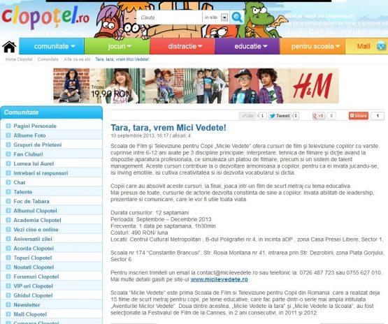 Articol Clopotel.ro